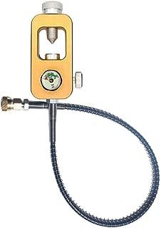scgtpapadc Mini Oxygen Tank Air Bottle Cylinder Scuba Respirator Adapter Diving Equipment - Golden