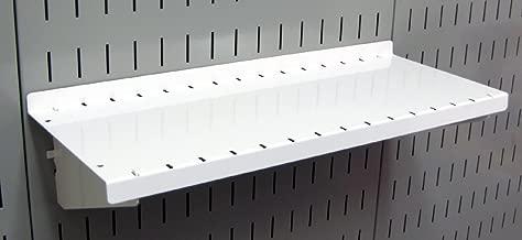 Wall Control Pegboard Shelf 6in Deep Pegboard Shelf Assembly for Wall Control Pegboard and Slotted Tool Board – White
