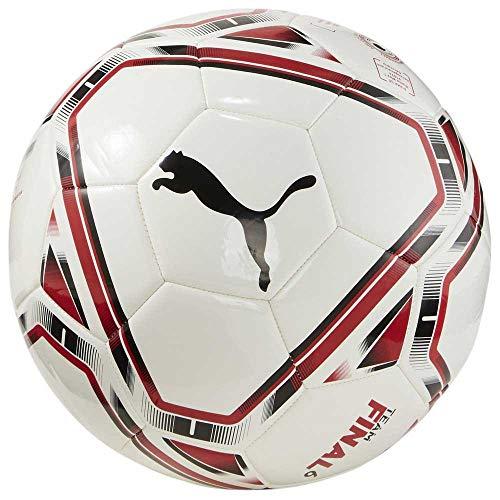 Puma AC Milan Stagione 2020/21-Final 6 MS Ball White Tango Red Pallone da calcio, Unisex, Multicolore (Multicolore), 5