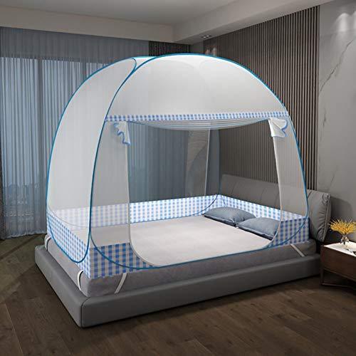 AURALLL Pop-up contra Insectos en Mosquitera Ultraligero Peso del bebé Playa Carpa Infantil Portable Pop Up Plegable Cuna Mosquitera (1.2 * 2M),Azul