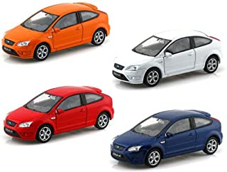 NEW 1:32 DISPLAY WELLY COLLECTION - FORD FOCUS ST Diecast Model Car By Welly (Set of 4 Cars)