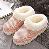 Memory Foam Zapatos,Pantuflas de Felpa Gruesa de algodón, cálidos Zapatos de confinamiento para Mujeres Embarazadas-Orange_40-41,Classic Slipper