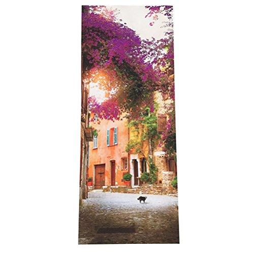 WINOMO Türtapete Tür Foto Tapete 3D Tür Aufkleber Garten Selbstklebend Wasserdicht 77x200 cm