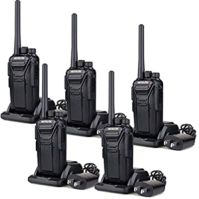 Retevis RT27 Walkie Talkies Rechargeable Long Range FRS Two Way Radio 22CH Encryption VOX 2 Way Radio (Black,5 pack) from Retevis