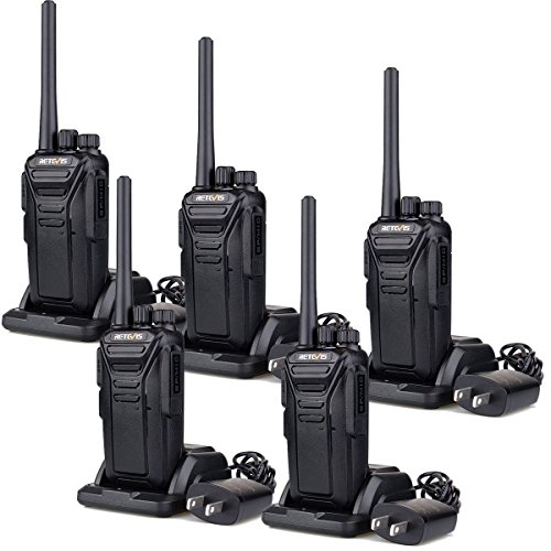 Retevis RT27 Walkie Talkies for Adults, Rugged Radio with Cold and Water Snow Resistant, Hand free Rechargeable 2 Way Radio, Portable Frs Two-way Radios for Healthcare, Government(5 Pack)
