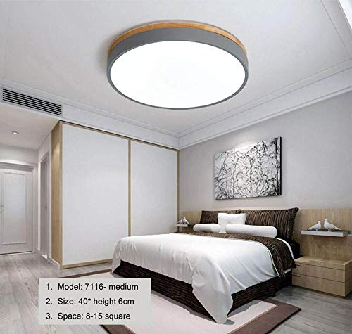 WFSDKN plafondlamp, warm, dun, LED, voor slaapkamer, modern, met kleur polarizer, Luminaria, kinderlamp, decoratie met hout