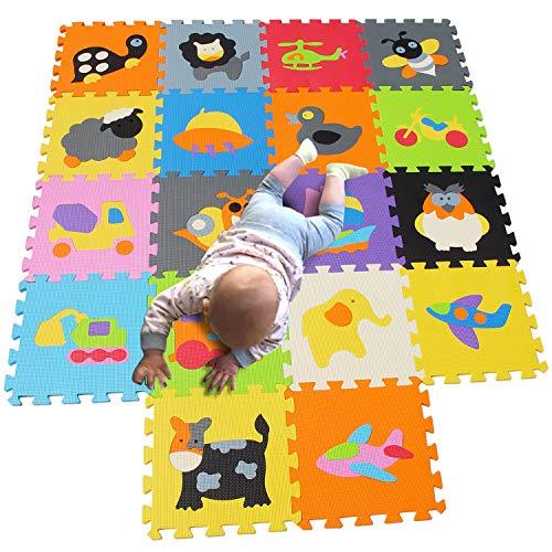MQIAOHAM Baby Matte spielmatte puzzelteppich Teppich puzzlematte Tiere krabbelmatte schaumstoffmatte Schaum bodenfliesen matten für Babys Puzzle mat Foam Schaumstoff P011028G321218