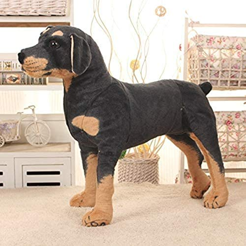 Baby Plüsch Spielzeug Gefüllte Spielzeug Simulation Stehen Schwarzer Hund Gefüllte Tierspielzeug Super Realistische Hund Spielzeug Kind Geschenk Fotografie Requisiten Requisiten (Farbe: Grün, Größe: 2
