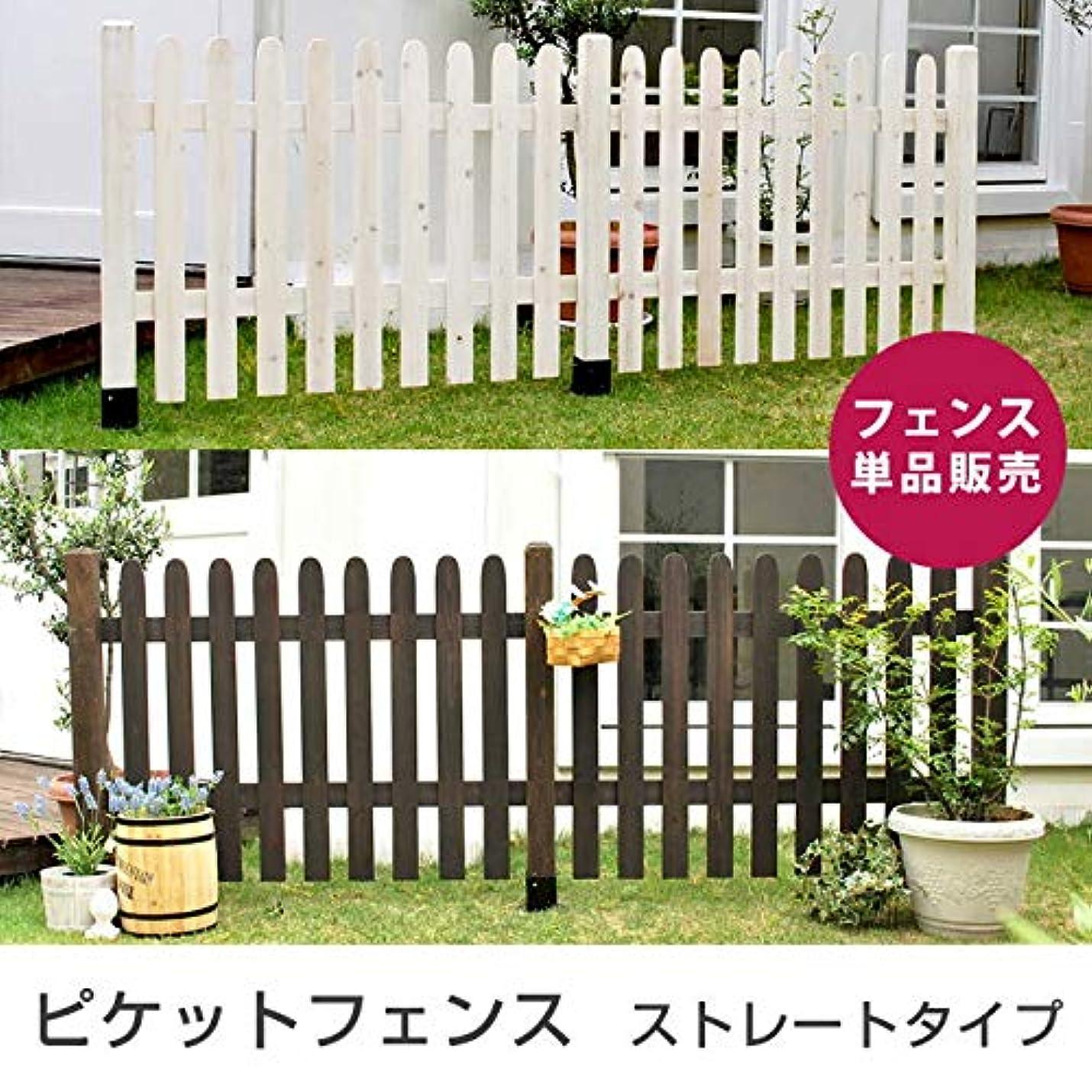 抵抗する憂慮すべき機械的インテリアオフィスワン ガーデンアーチ ピケットフェンス ストレート フェンス 単品販売/(ホワイト)