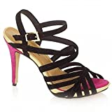 Ravel Laurie - Zapatos de tacón de Ante Mujer, Color Negro, Talla 38.5 (6 UK)