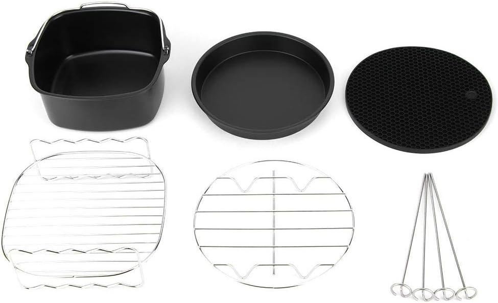 Accesorios para freidoras, 5Pcs/Set Olla para olla Parrilla al vapor Piezas para freidora Kit de accesorios Set adecuado para Philips Air Fryer
