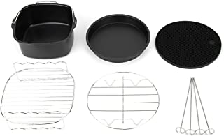 Accessoires de friteuse à air 8 pouces ensemble de 6 pour friteuse à air Philip en aluminium et acier inoxydable sans BPA
