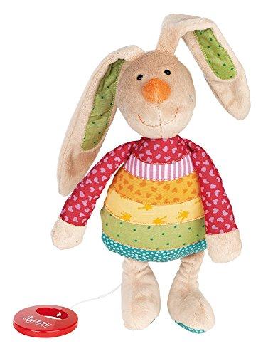 sigikid, Mädchen, Spieluhr, Stofftier Hase Rainbow Rabbit, Rot/Mehrfarbig, 40577