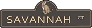 Savannah Street Sign | Indoor/Outdoor | Dog Lover Funny Home Décor for Garages, Living Rooms, Bedroom, Offices | SignMission personalized gift | 18
