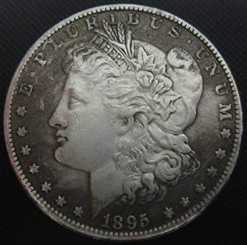 YWJHY Moneda de Cobre 1895 imitación de Plata de dólar Estadounidens