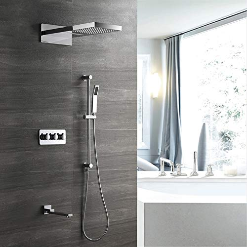 Buy Handheld Lifting Rod Hot and Cold Shower Set with Concealed Shower Faucet Shower Copper Four Fun...