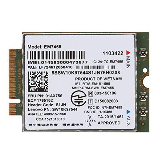 PUSOKEI Tarjeta WiFi, módulo inalámbrico 4G LTE NGFF/M.2 con chipset Qualcomm, Compatible con Sistemas Win7 / 8/8.1/10 / Linux, Adaptador Wi-Fi para Tableta portátil