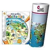 Collectix Ravensburger tiptoi ® Buch, Atlas | Mein großer Weltatlas + Kinder Wimmel Weltkarte - Länder, Tiere, Kontinente