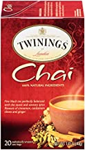 Twinings of London Chai Tea Bags, 20 Count (Pack of 6)