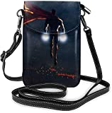 XCNGG S-uperman Flight Ligero, pequeño, bandolera, monederos de cuero para teléfono celular, bolso de viaje, bolso de hombro, billetera con ranuras para tarjetas de crédito para mujeres