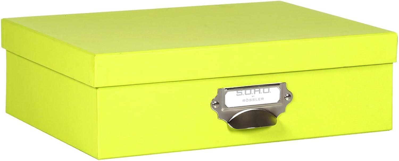 Rössler Papier - - - - S.O.H.O. Limette - Aufbewahrungskartonage m. Griff - Liefermenge  2 Stück B07CX6ZB4V  | Ausgezeichnetes Preis  ecbecf