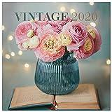ERIK® Vintage Wandkalender/Broschürenkalender 2020 30x30cm (aufgeklappt 30x60cm im Hochformat)