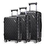Spinner Luggage Set - ABS Hardshell Suitcase with TSA Lock - 20in 24in 28in