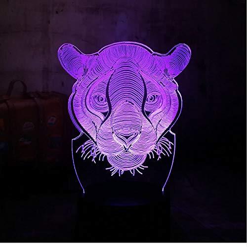 3D Lucis Notturne 3D Animal Lion House Decor Usb Lampada Giocattolo Regalo Per Bambini Da Comodino Rc Remote Luminarias 7 Colori Flash Change Led Night Light Lava