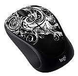 Logitech Art Collection - Mouse - Optical - 5 Buttons - Wireless - 2.4 GHz - USB Wireless Receiver - Dark Fleur