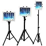 Soporte tablets, WERSHOW Universal Soporte de Trípode Ajustable de 360°Giratorio para iPad/iPad2 Mini y Otras Tabletas de 5-10 Pulgadas