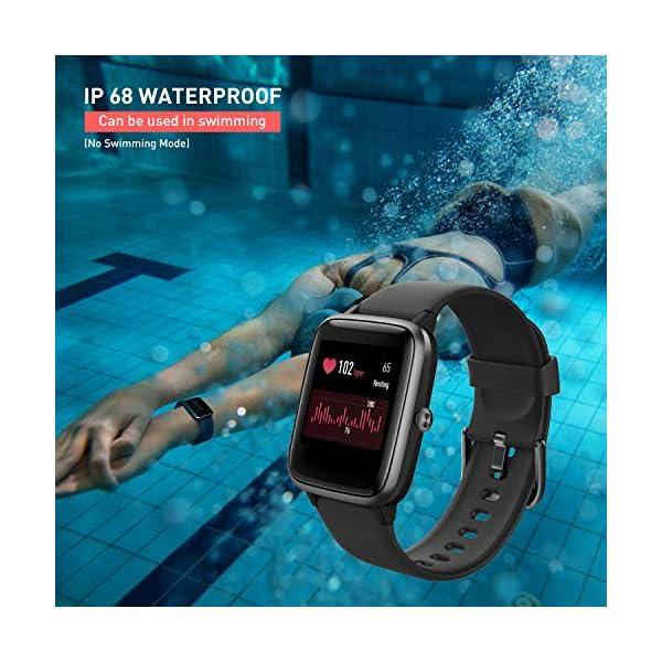 Reloj Inteligente Mujer,Smartwatch Hombre Impermeable IP68 Pulsera Actividad 1.3 Pulgada con Monitor de Ritmo cardíaco… 3