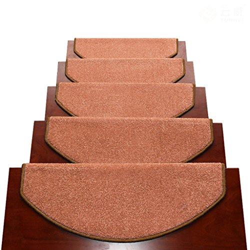 Tappeti scale2 BBYE Extra Spesso Stair Carpet Libero Autoadesive Antiscivolo Solido della Famiglia di Legno Passaggio Pad (Colore : # 2, Dimensioni : 75 * 24cm-A)