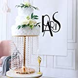 Wedding Cake Stand for Dessert Table, 11.8' Gold Crystal Pendants Metal Cake Stand Serves as A Round Dessert Cupcake Display Plate, 15.7' Tall (Gold)