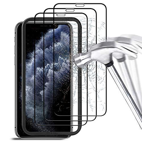 """AODOOR Panzerglas Kompatibel mit iPhone 11 Pro/iPhone XS Schutzfolie, [3 Stück mit Führungsrahmen] 9H Anti-Bläschen Panzerglasfolie, [Blasenfrei] Displayschutzfolie für iPhone 11 Pro/iPhone XS - 5,8\"""""""