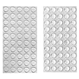 huangzhao Rubber Stoppers Clear Rubber Feet Adhesive Bumper Pads Cabinet Door Bumpers 100P...