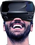 LVYE1 MRMF Auriculares VR para Teléfonos para iPhone Y Android VR Set Incluido Control Remoto 3D Gafas De Realidad Virtual 3D con Controlador Regalo De Gafas VR Ajustable para Niños Y Adultos