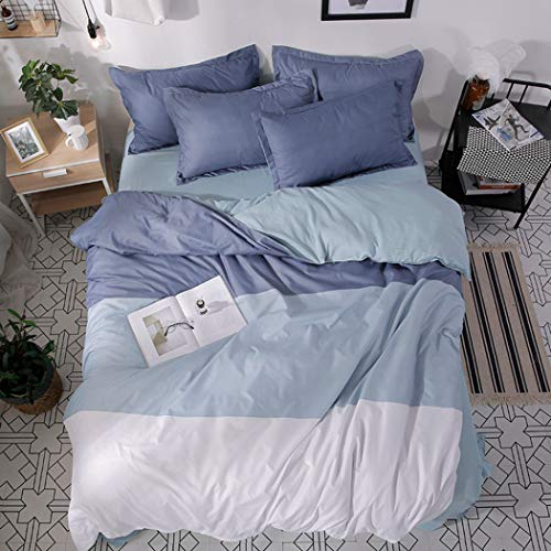 Color Mix and Match Cotton Bedding Set Bed Sheet Duvet Cover Pillowcase 4 pcs Combination Bed Cover Bed Linen