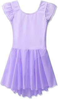 BAOHULU Girl's Skirted Leotards Flutter Sleeve Ballet Dance Tutu Dress