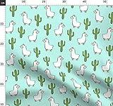 Kaktus, Lama, Modisch, Alpaka, Boho, Südwesten Stoffe -