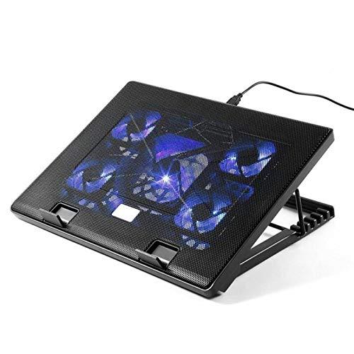 LLZJ Gaming Laptop Cooler for 15.6-17 Inch Notebook Cooling Cooler Pad Laptop Stand with 5 Fan 2 USB Port Computer Cooler Mat (Color : Black)