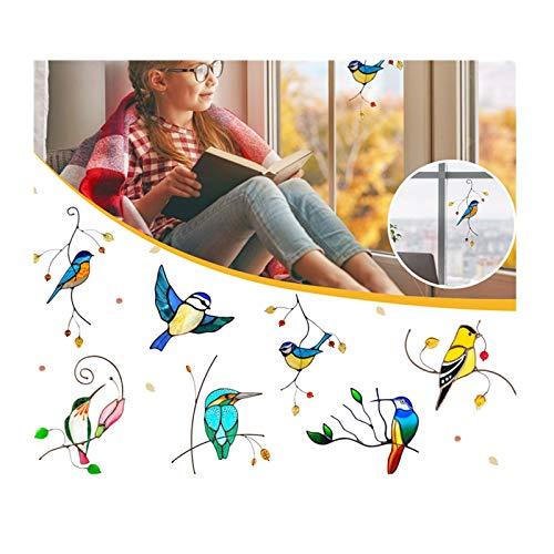 OVERMAL Window Sticker Cheerful 1/7PCS Wandtattoo Fenster Haftet Aufkleber Anti Kollision Fenster Haftet Abziehbildern Aufkleber Bird Cute 3D Car Decoration Schutz Gegen Vogelkollisionen