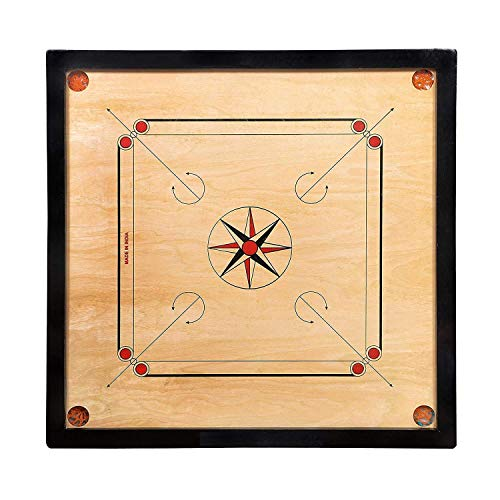 RKS Carrom Board with Free Wooden Coins and Striker 32 inch Carrom Board