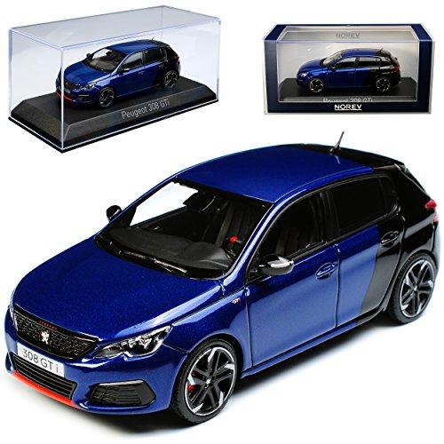 Norev Peugeot 308 II GTI 5 Türer Blau Schwarz 2. Generation Ab 2013 Ab Facelift 2017 1/43 Modell Auto
