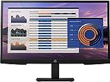 HP - PC 27h G4 Monitor con Casse Audio, Schermo 27' FHD IPS, Risoluzione 1920 x 1080, Tempo Risposta 5 ms, Regolazione Inclinazione - Altezza - Pivoting, Antiriflesso, DisplayPort, HDMI, VGA, Nero