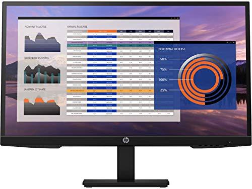 """HP - PC 27h G4 Monitor con Casse Audio, Schermo 27"""" FHD IPS, Risoluzione 1920 x 1080, Tempo Risposta 5 ms, Regolazione Inclinazione - Altezza - Pivoting, Antiriflesso, DisplayPort, HDMI, VGA, Nero"""