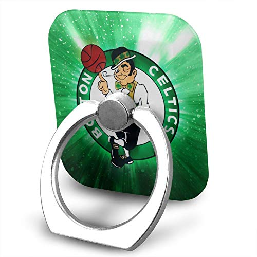 TheresaWhavez Boston Basketball Cel-tics Mobile Phone Ring Holder 360 Degree Rotation and 180° flip Finger Ring Holder Compatible with Most Smartphone Tablets and Phone Cases Sold