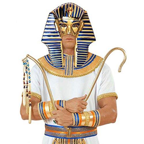 NET TOYS Pharao Maske Pharaomaske Gold-blau Ägyptische Maske Pharaonenmaske Karneval Masken Ägypter Kostüm Zubehör