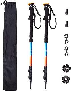 2 Poles Backpacking 2 Lightweight Folding Cork 3K Carbon Fiber 7075 Aluminum Mix Hiking Sticks Otrestodyl Z Trekking Poles Collapsible Walking