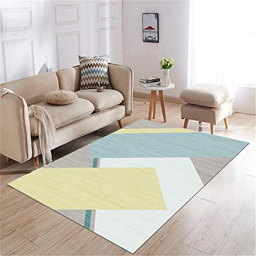 Kunsen cojin Suelo Grande Decoracion Comedor Alfombra de salón Suave Rectangular Moderno Gris Amarillo Azul Alfombra Salon Grande 80X200CM 2ft 7.5' X6ft 6.7'