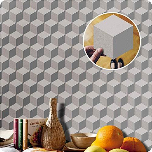 Tegel Sticker Grijs Zeshoek Decoratieve Sticker Tegel Badkamer voor Vloer en Muren Waterdicht Antislip Peel en Stick Zelfklevende 3D Tegels (20 × 23cm/7.8×9in) 10 Stuks Set